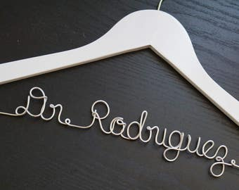 Personalized Doctor Hanger, White Coat Ceremony, Lab Coat Hanger, First White Coat Hanger, Doctor Graduation Gift, Personalized Gift