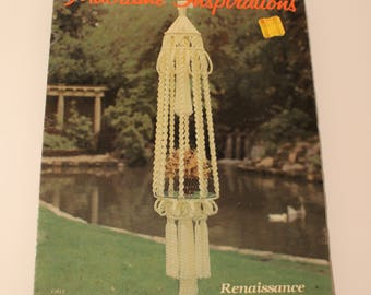 Macrame Inspirations Wall Hanging, Plant Hanger, 1980 Easy Macrame Knotting Directions GS12