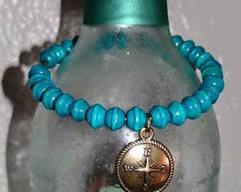 Bangle bracelet teal