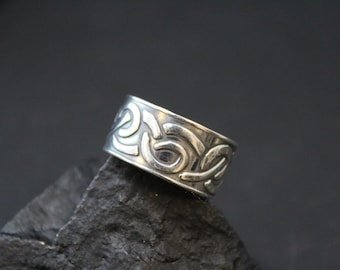 Sterling Silver Wide Celtic Band Ring
