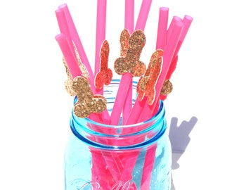 12 PACK- ROSE GOLD penis straws! Bachelorette party decorations, penis decorations, bachelorette party favors, party supplies