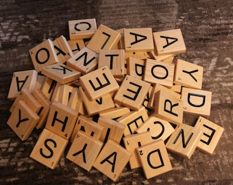 Solid Wood Scrabble Wall Tiles to Personalize Your Home Decor.
