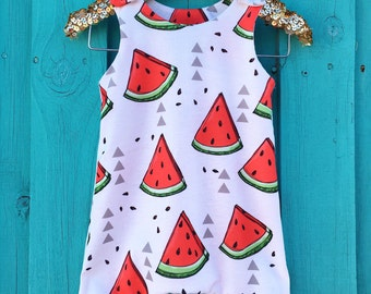 Baby Romper, Watermelon Summer Playsuit, Baby Boy Romper, Watermelon Jumpsuit, Baby Girl Romper, Toddler Romper, Baby Gift, Baby Shoer Gift