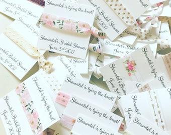 Mixed boho Bridesmaid hair tie favor sets//bride, bridesmaid proposal, hair tie card, hair tie favors, bachelorette, party favor, boho
