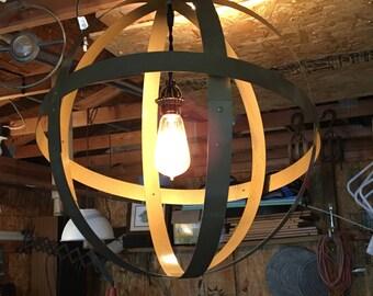 Orb pendant light.