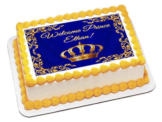 Royal Prince Edible Baby Shower Cake Topper Baby Shower Cake