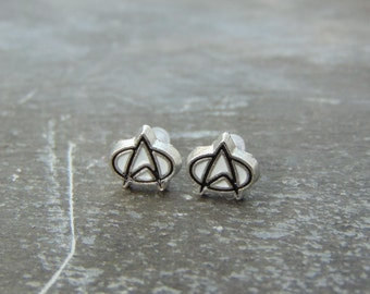 Small Star Trek Starfleet Insignia Logo Stud earrings