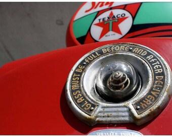 Vintage Texaco Gas Pump Photograph — Roadside Americana Photography — Red and Jadeite Green Texaco Pump — Route 66 Photo Art — Star — Retro