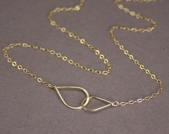Mini Infinity Necklace  14k Gold Filled or Sterling Silver
