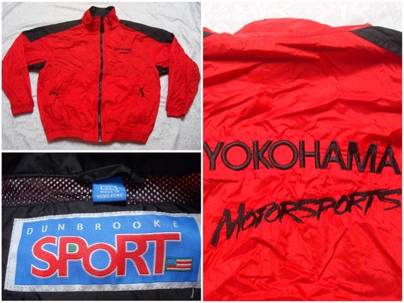 Vintage Retro Men's 90's Nike Jacket Black Red Silver Sleeve Pocket Anorak Full Zip Windbreaker Jacket Streetwear XL pzU4nWd