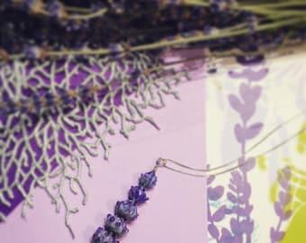 Royal Velvet Lavender Glass Bead Pendant