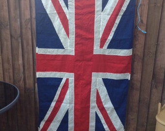Vintage 1970's / 80's Union Jack Flag - 180cm x 90cm