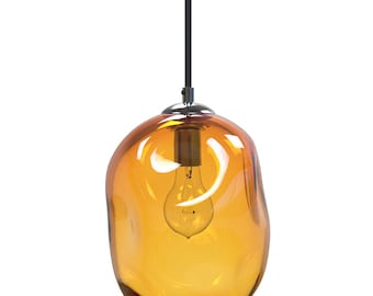 Gold River Rock Hand Blown Glass Pendant Light Lighting Glass Pendants and Chandeliers
