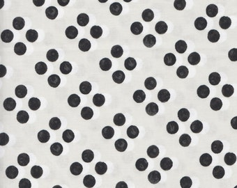 Cotton + Steel Black and White 5029 1 White and Black Dots on Putty by the yard