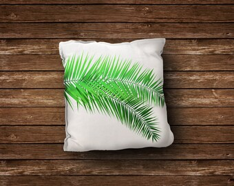 Green Pillow Cowers, Palm  Pillows, Decorative Pillow, Outdoor Pillow, Leaves Pillow, All Sizes, Pillow , Natural Pillow, Palm Tree