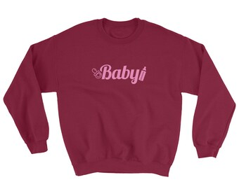 Baby Pink Sweatshirt DDLG, ABDL, Little, Adult Baby, Kawaii