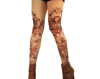Whoa Cowgirl! Tattoo Leggings