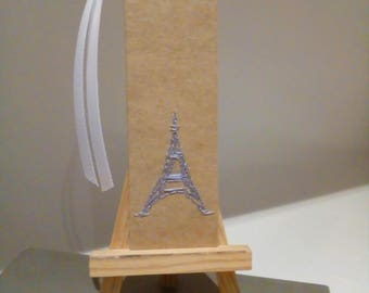 Bookmark - Eiffel Tower - Elegantly Hand 'sketched' in French Thread