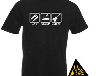 Eat Sleep Guitar T-Shirt Joke Funny Tshirt Tee Shirt