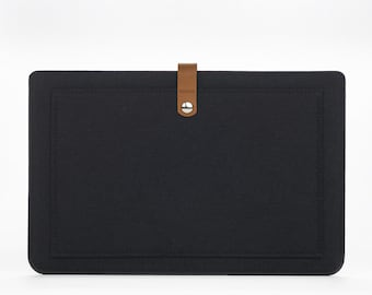 MacBook Air Sleeve - MacBook Air Case - Macbook Cover - MacBook Air 11 Leather - MacBook Air 11 Felt and Leather Case