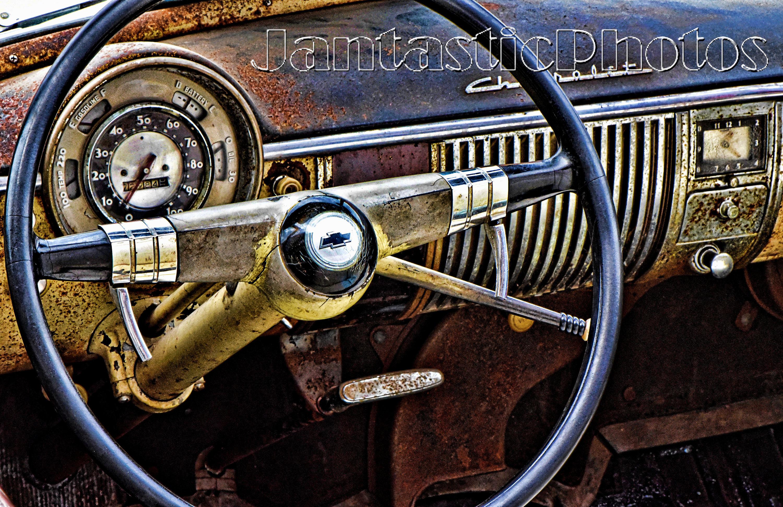 Chevrolet Deluxe photograph 1949 vintage car dashboard