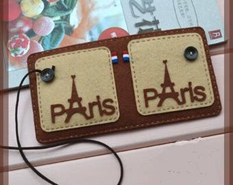 New DIY Easy knit Funny Handmade Craft Sewing Little Wallet Kits Cute Purse(CTJZ21-FSC-PARIS)