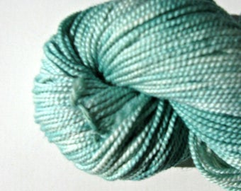 Jade Hand dyed Merino Wool  / Silk Yarn, Worsted Weight, 200 yards
