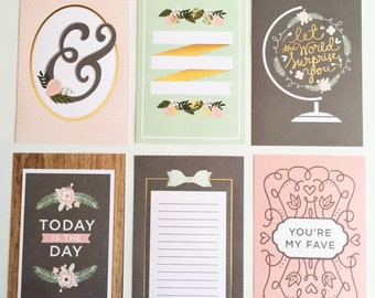 Journal / Project Life-inspired Cards: Oh So Pretty!