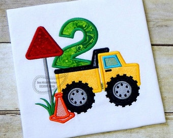 Construction number 2 Dump truck applique - A BMB EXCLUSIVE design!