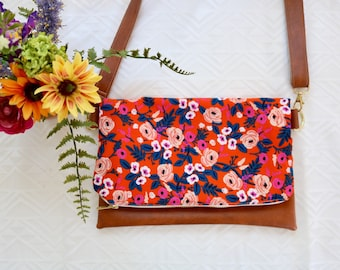 Orange Floral Cross-Body (Rifle Paper Co.)