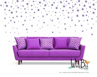 Gold Star Stickers Wall Decals for baby girl or baby boy Nursery