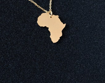 Mama Africa Necklace | The Motherland - 18 Karat Real Gold Plated