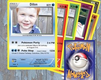 pokemon, pokemon invitation, pokemon birthday invitation, pokemon birthday, pokemon invitations, pokemon card invitation, pokemon cards
