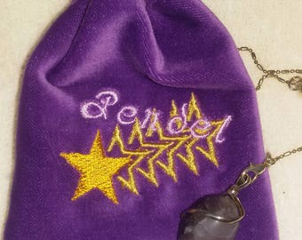 Pendant bag with amethyst Pendant