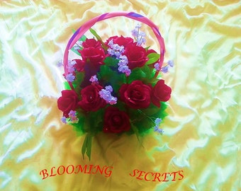 Sweet Red Rrose basket