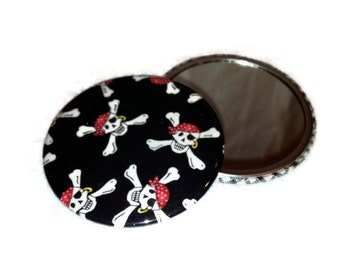 """Pirate MIRROR for your Matee Pocket Mirror PIRATES LIFE 3"""" For Gym Bag or Basket Filler"""