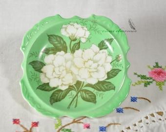 Green Paragon Gardenia trinket dish