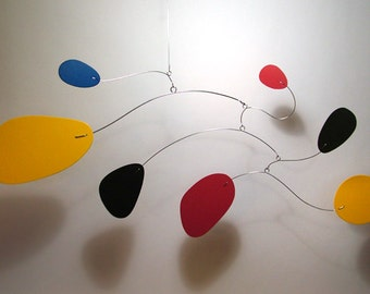 Modern Art Mobile Simplexus Medium Hanging Home Decor Mid Century Modern Retro Nursery