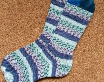 Hand knitted wool socks, womens UK 4-6, fairisle socks, Cascade Heritage yarn, unique knitted socks, uk made