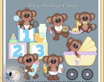 Baby Monkey Clipart