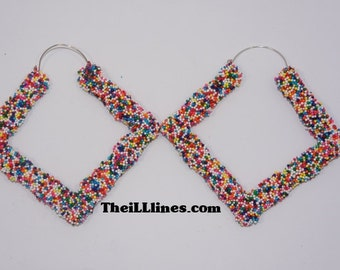 Candy Sprinkle Diamond Bamboo Earrings Buy 1 Get 1 Free & Free Shipping