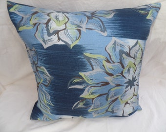 "Clearance Blue, pistachio green decorative flowered 16"" cushion cover,  pillow, scatter cushion."