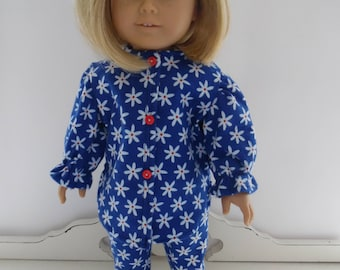 American Girl Flannel Pajamas and Doggy Slippers