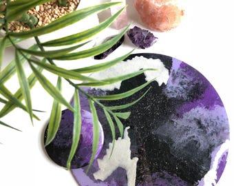 Purple Hues Wall Round