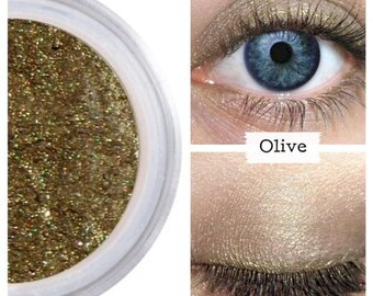 Olive Eyeshadow, For Sensitive Eyes, Professional Makeup, Velvety Texture, Blendable Color, Mineral Color, Shimmer Finish, Eye Shadows