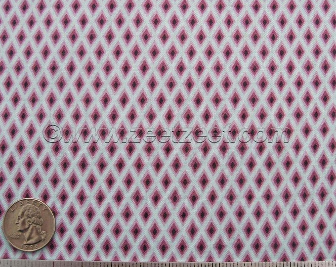 "Free Spirit TUDOR WINDOWS Plum - Tula Pink - Cotton Quilt Fabric by the Fat Quarter or 14"" RemnantSky Purple Lilac Diamonds"