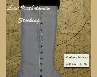 Men's Victorian Christmas Stocking PDF Pattern...Lord Vertholomew