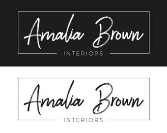Modern Logo, Minimal script Logo, Photography Logo, Handwritten Logo, Calligraphy logo, Business Logo, Watermark, Minimalist Logo, Logo