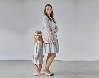 Matching Cardigans for Mom and Daughter, Soft girls sweater, Matching mother and daughter Sweaters