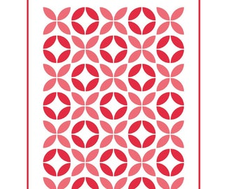 PATTERN Lovey Dovey XOXO Valentines Day Applique Quilt for February 3 sizes